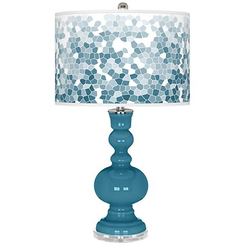 Great Falls Mosaic Giclee Apothecary Table Lamp