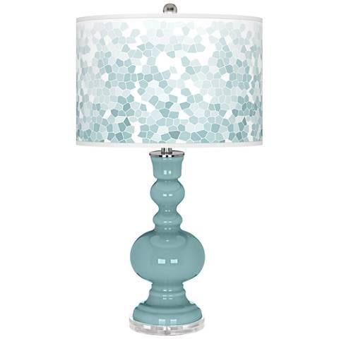 Raindrop Mosaic Giclee Apothecary Table Lamp