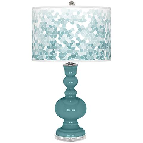 Reflecting Pool Mosaic Giclee Apothecary Table Lamp