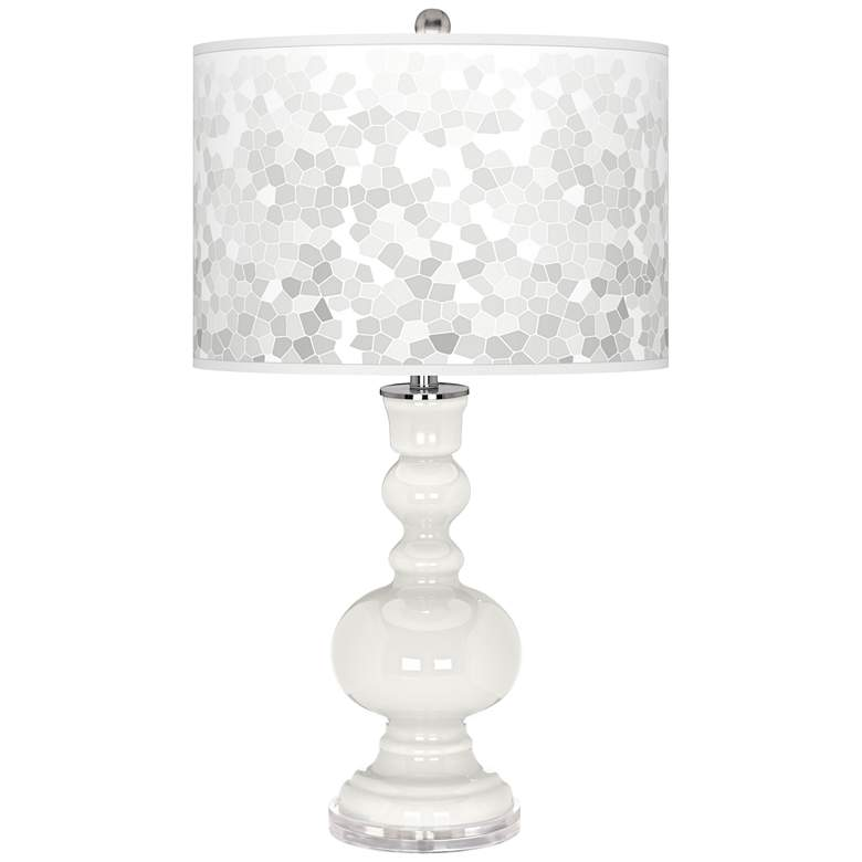 Winter White Mosaic Giclee Apothecary Table Lamp