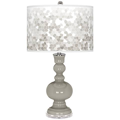 Requisite Gray Mosaic Giclee Apothecary Table Lamp