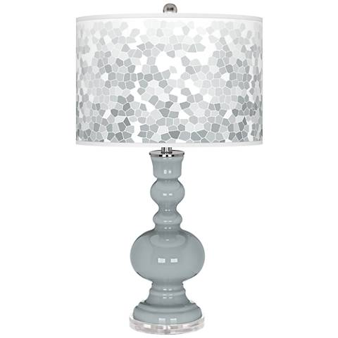 Uncertain Gray Mosaic Giclee Apothecary Table Lamp