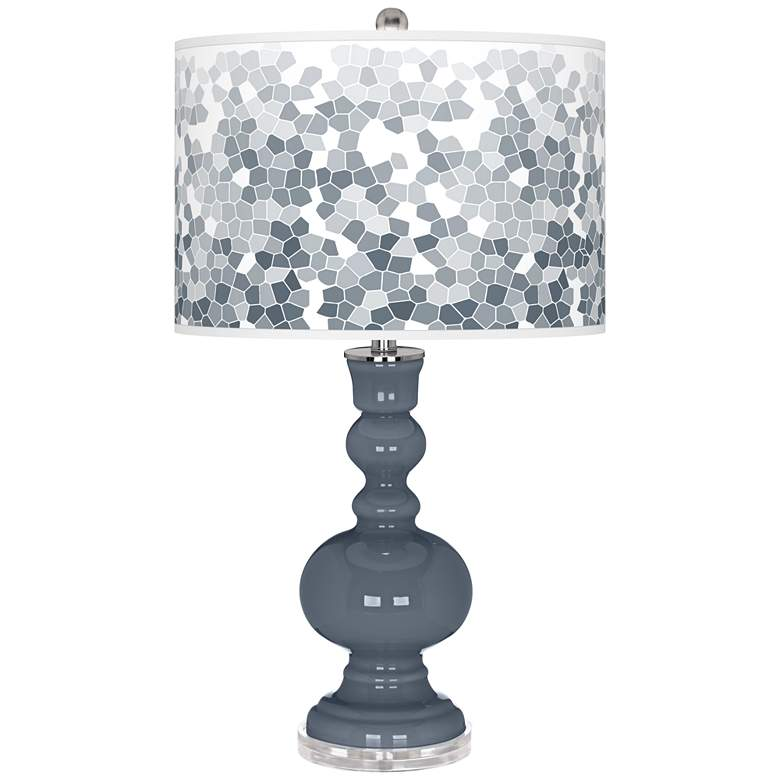 Granite Peak Mosaic Giclee Apothecary Table Lamp