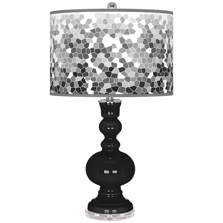 Tricorn Black Mosaic Giclee Apothecary Table Lamp