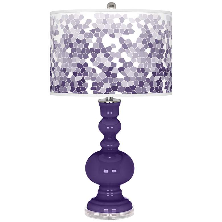 Izmir Purple Mosaic Giclee Apothecary Table Lamp