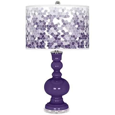 Izmir Purple Mosaic Giclee Apothecary Table Lamp