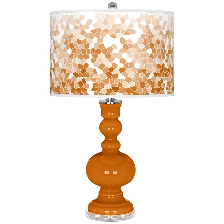 Cinnamon Spice Mosaic Giclee Apothecary Table Lamp