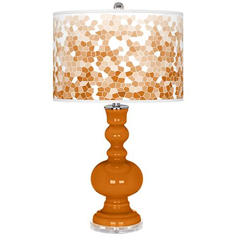 Cinnamon Spice Mosaic Giclee Apothecary Table Lamp