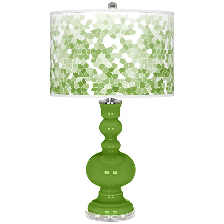 Rosemary Green Mosaic Giclee Apothecary Table Lamp