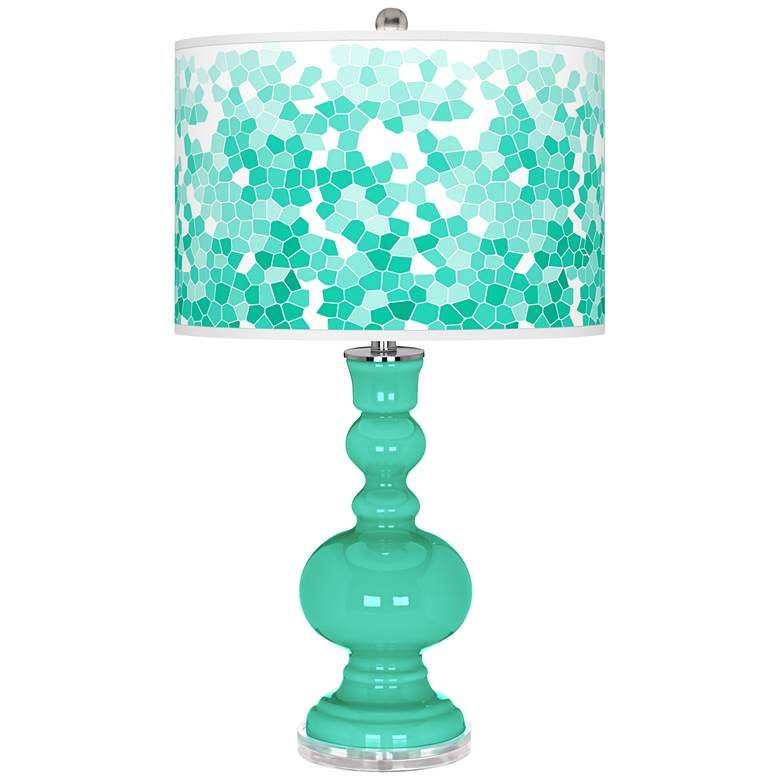 Turquoise Mosaic Giclee Apothecary Table Lamp