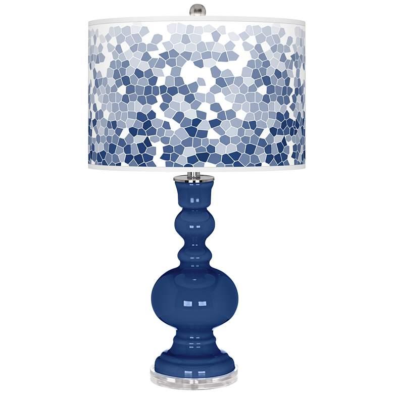 Monaco Blue Mosaic Giclee Apothecary Table Lamp