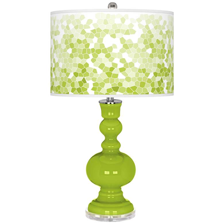 Tender Shoots Mosaic Giclee Apothecary Table Lamp