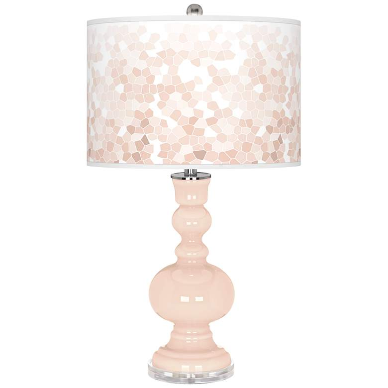 Linen Mosaic Giclee Apothecary Table Lamp