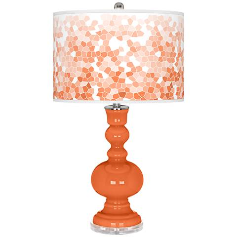 Nectarine Mosaic Giclee Apothecary Table Lamp