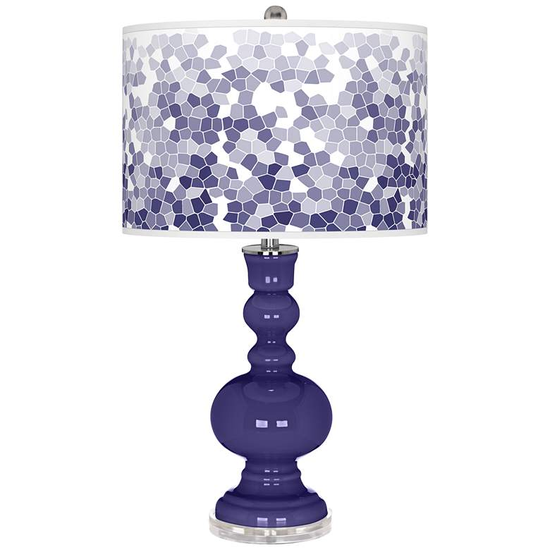Valiant Violet Mosaic Giclee Apothecary Table Lamp