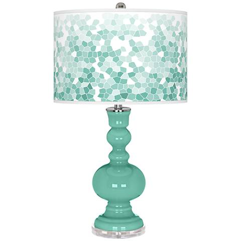 Larchmere Mosaic Giclee Apothecary Table Lamp