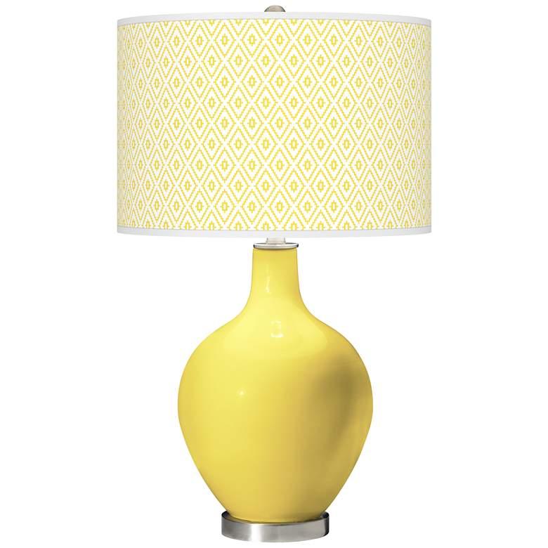Lemon Twist Diamonds Ovo Table Lamp