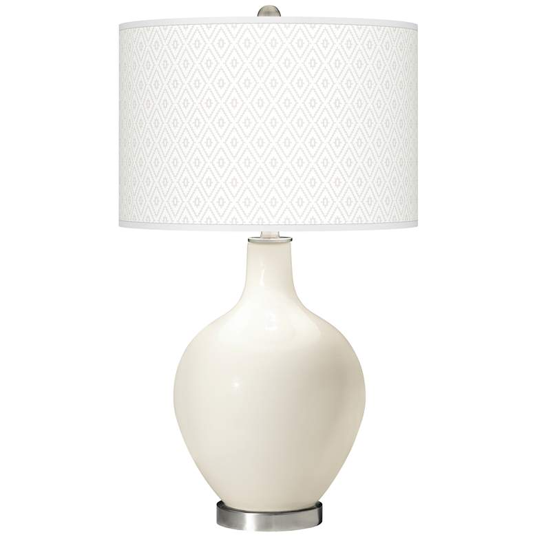 West Highland White Diamonds Ovo Table Lamp