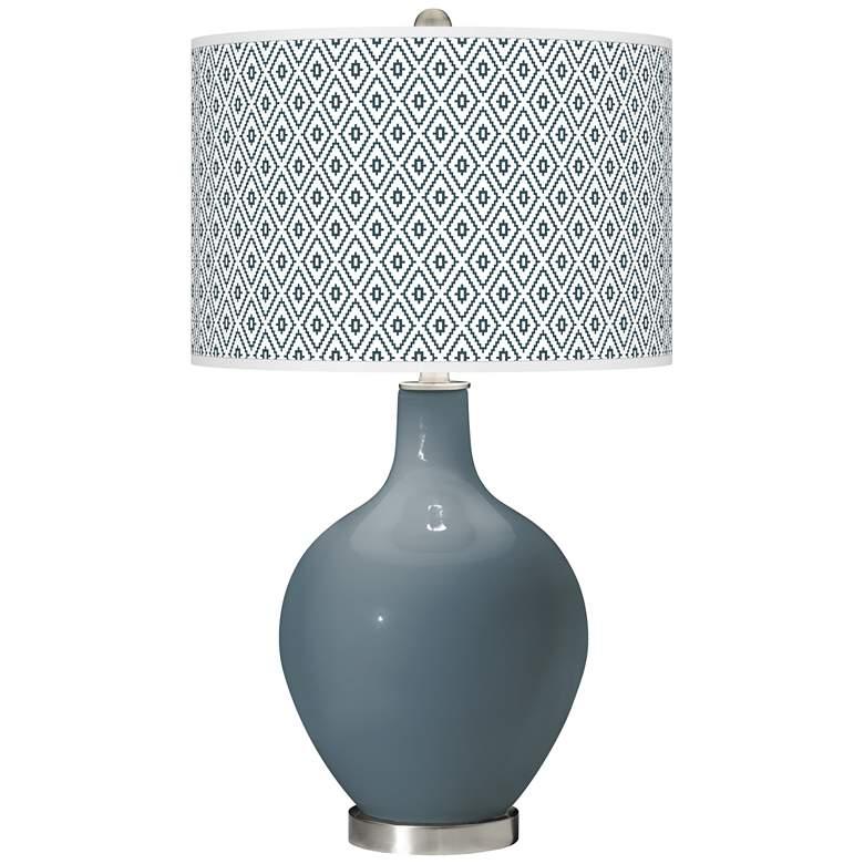 Smoky Blue Diamonds Ovo Table Lamp