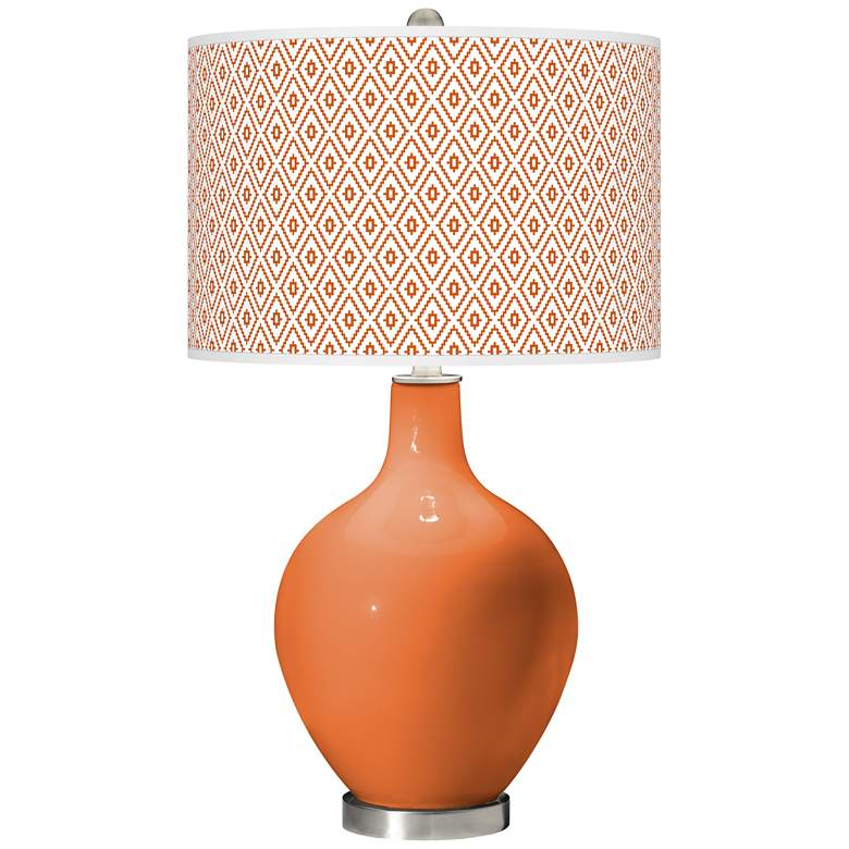 Celosia Orange Diamonds Ovo Table Lamp