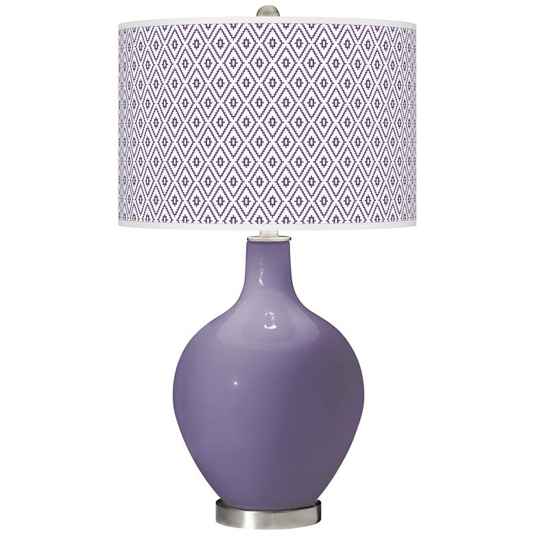 Purple Haze Diamonds Ovo Table Lamp