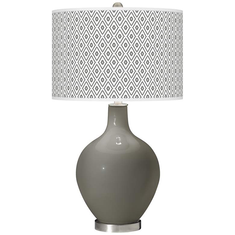 Gauntlet Gray Diamonds Ovo Table Lamp