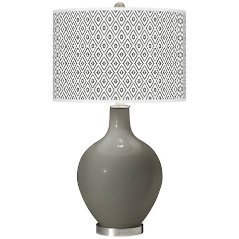 Gauntlet Gray Diamonds Ovo Table Lamp