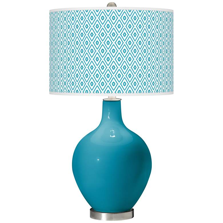 Caribbean Sea Diamonds Ovo Table Lamp
