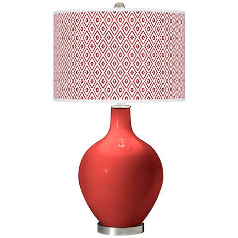 Cherry Tomato Diamonds Ovo Table Lamp