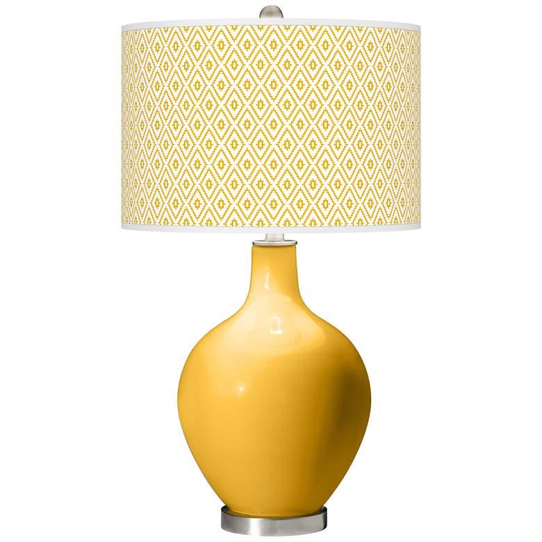 Goldenrod Diamonds Ovo Table Lamp