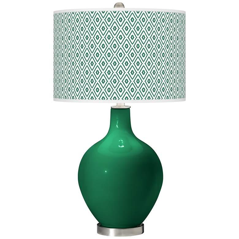 Greens Diamonds Ovo Table Lamp