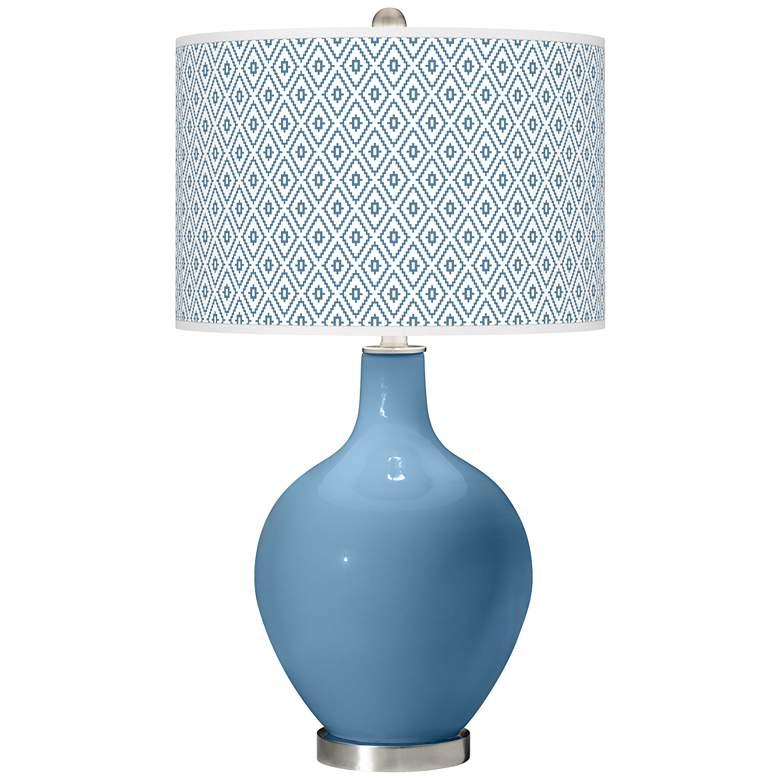 Secure Blue Diamonds Ovo Table Lamp