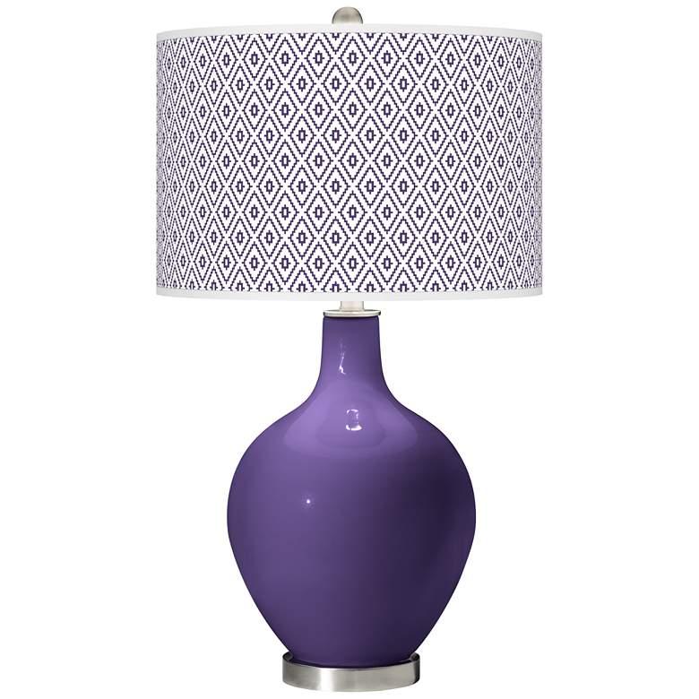 Izmir Purple Diamonds Ovo Table Lamp