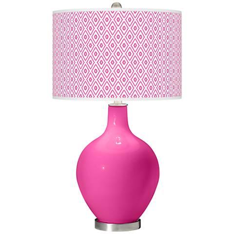 Fuchsia Diamonds Ovo Table Lamp