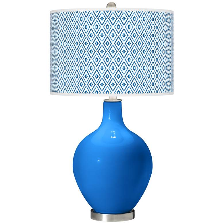 Royal Blue Diamonds Ovo Table Lamp