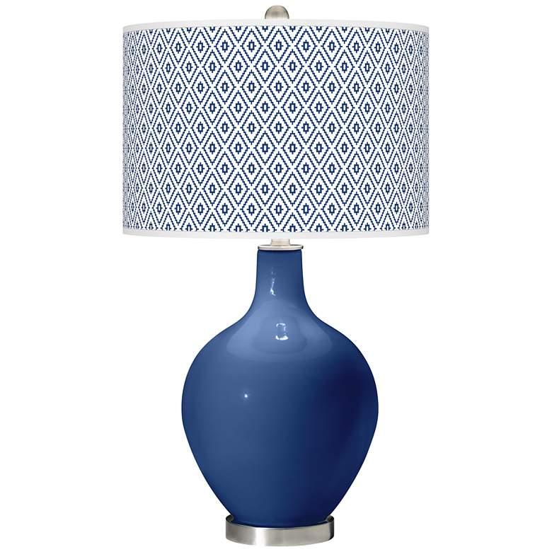 Monaco Blue Diamonds Ovo Table Lamp
