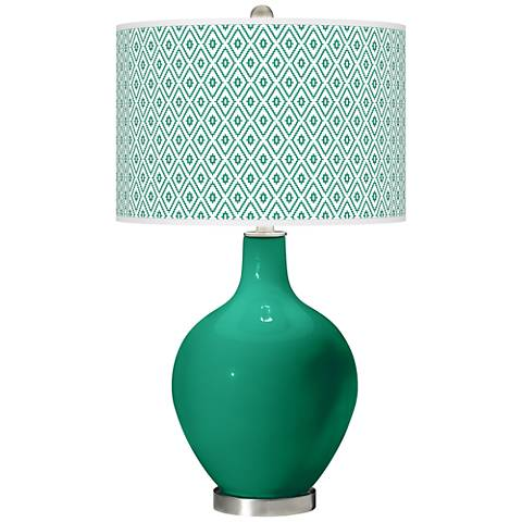 Emerald Diamonds Ovo Table Lamp