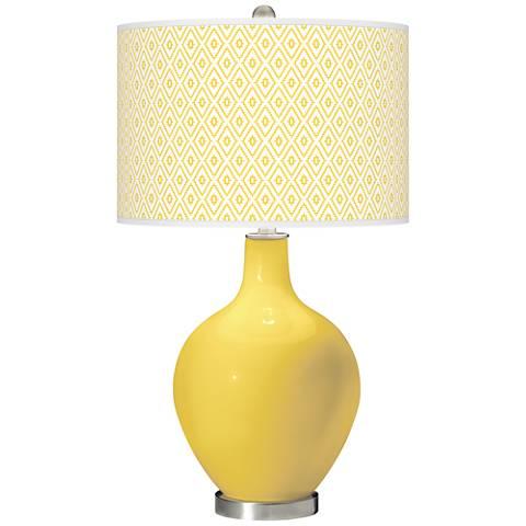 Lemon Zest Diamonds Ovo Table Lamp