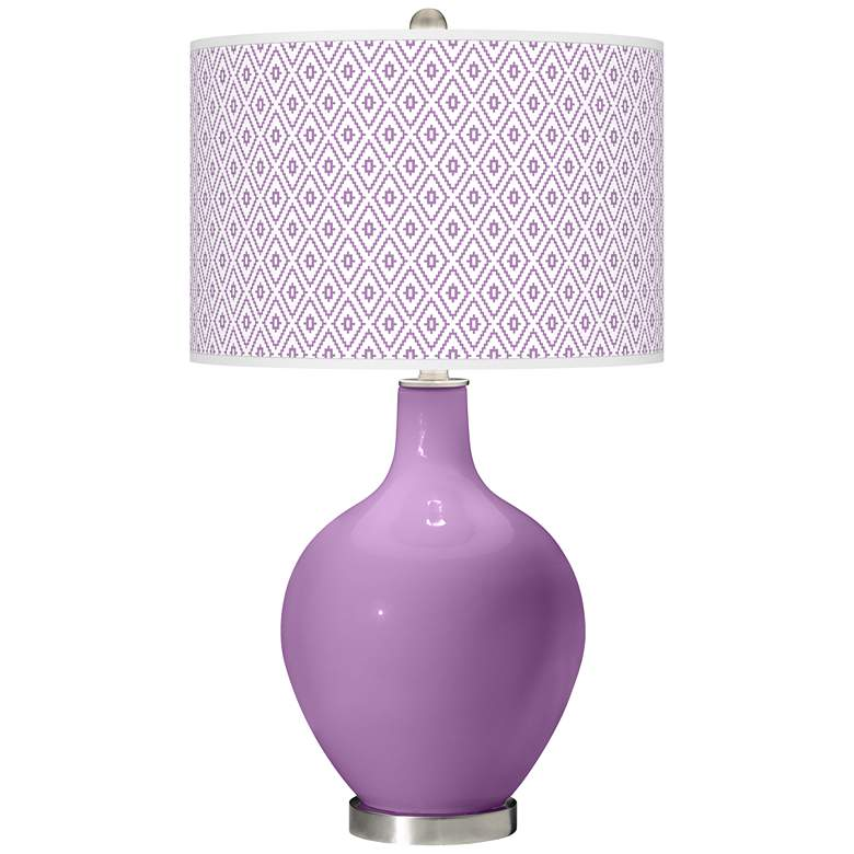 African Violet Diamonds Ovo Table Lamp