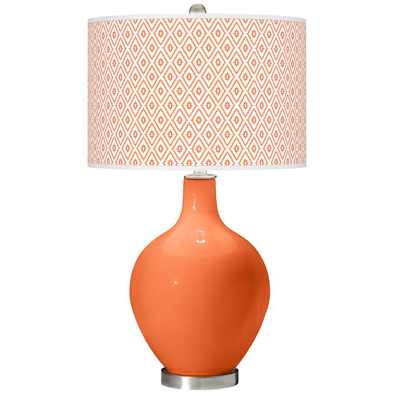 Nectarine Diamonds Ovo Table Lamp