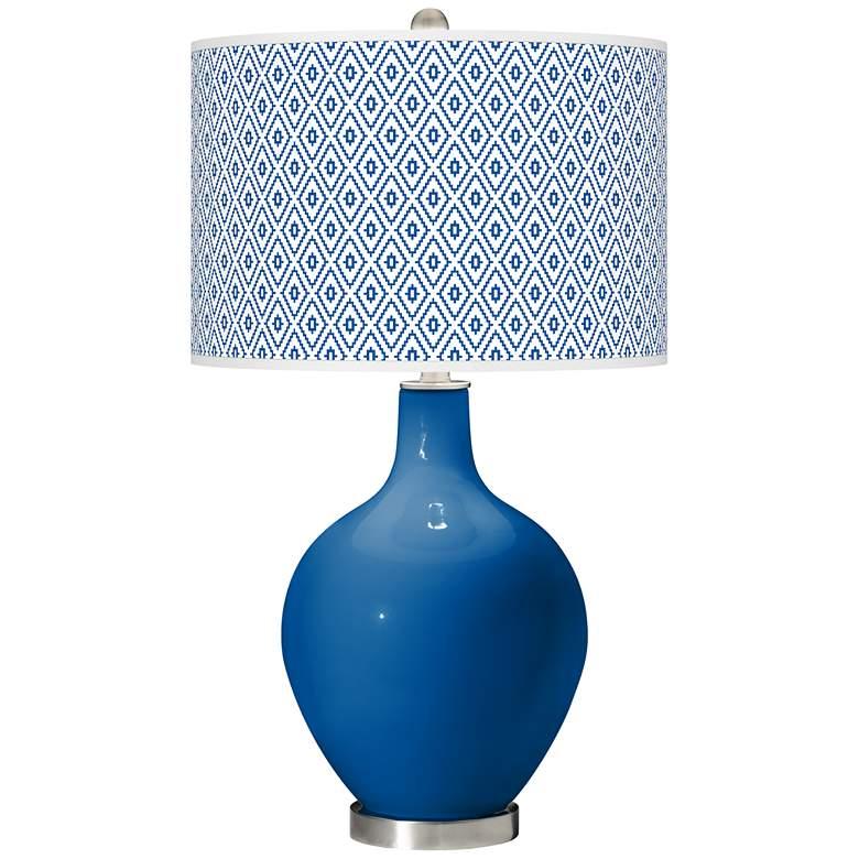 Hyper Blue Diamonds Ovo Table Lamp