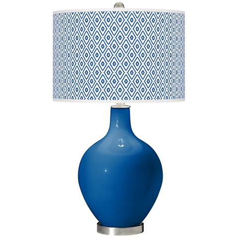 Hyper Blue Diamonds Ovo Table Lamp