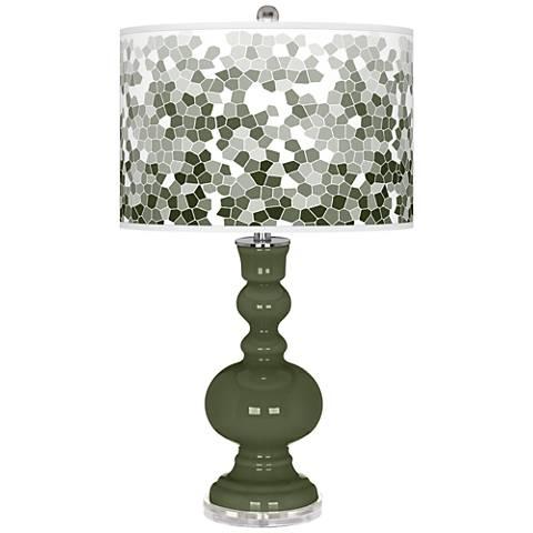 Secret Garden Mosaic Giclee Apothecary Table Lamp