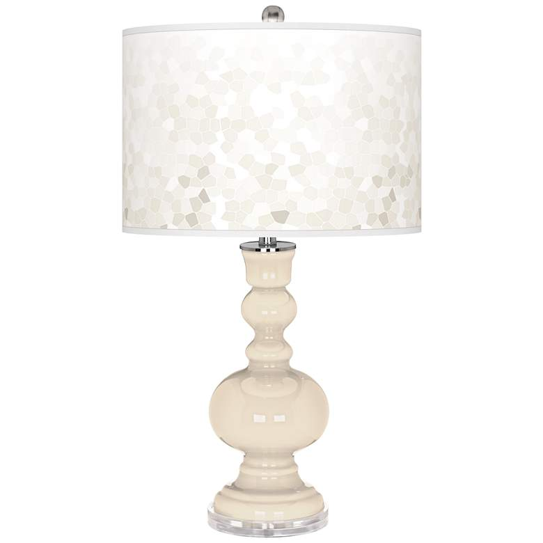 Steamed Milk Mosaic Giclee Apothecary Table Lamp