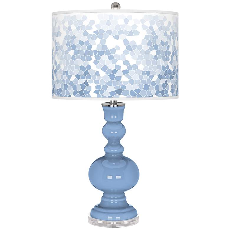 Placid Blue Mosaic Giclee Apothecary Table Lamp