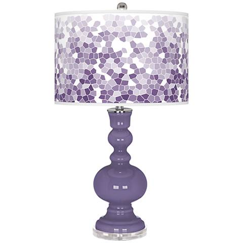 Purple Haze Mosaic Giclee Apothecary Table Lamp
