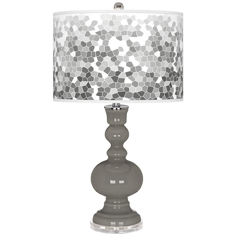 Gauntlet Gray Mosaic Giclee Apothecary Table Lamp
