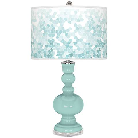 Cay Mosaic Giclee Apothecary Table Lamp
