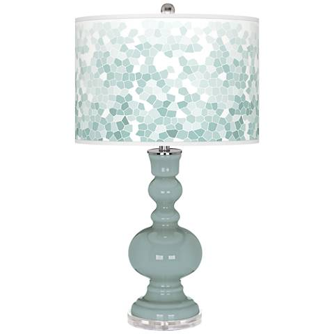 Aqua-Sphere Mosaic Giclee Apothecary Table Lamp