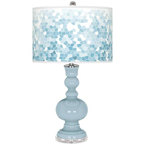 Vast Sky Mosaic Giclee Apothecary Table Lamp